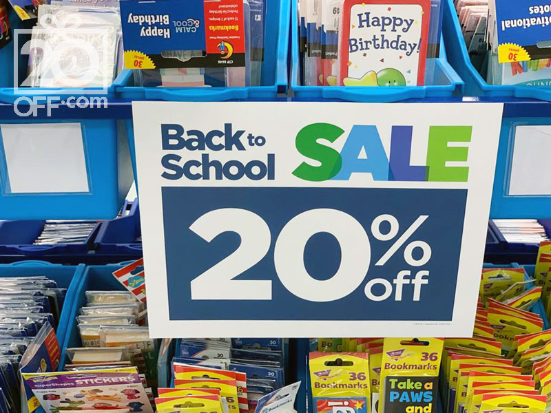 20% OFF Back to School Sale