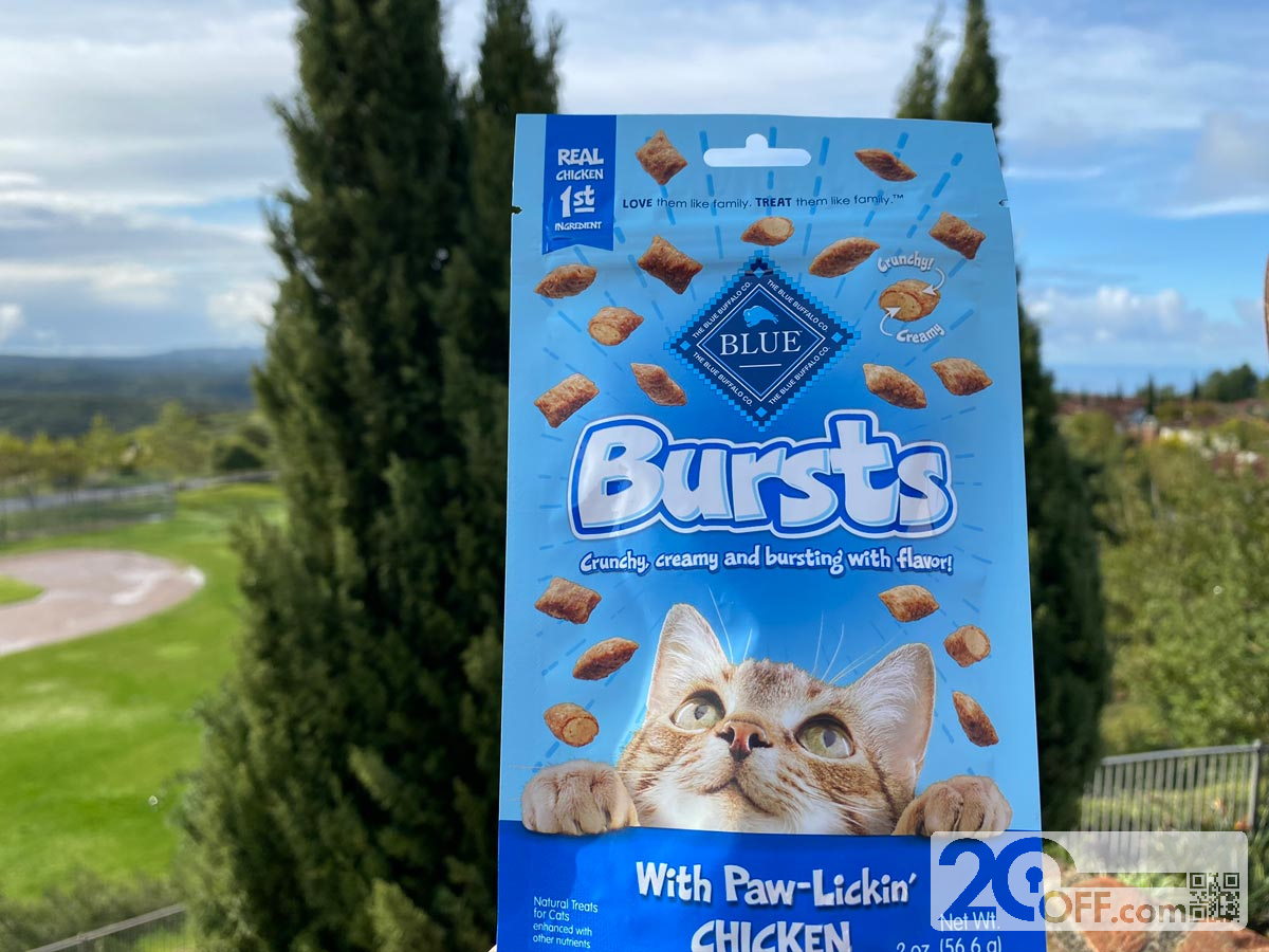 Chewy Blue Bursts treats with chicken