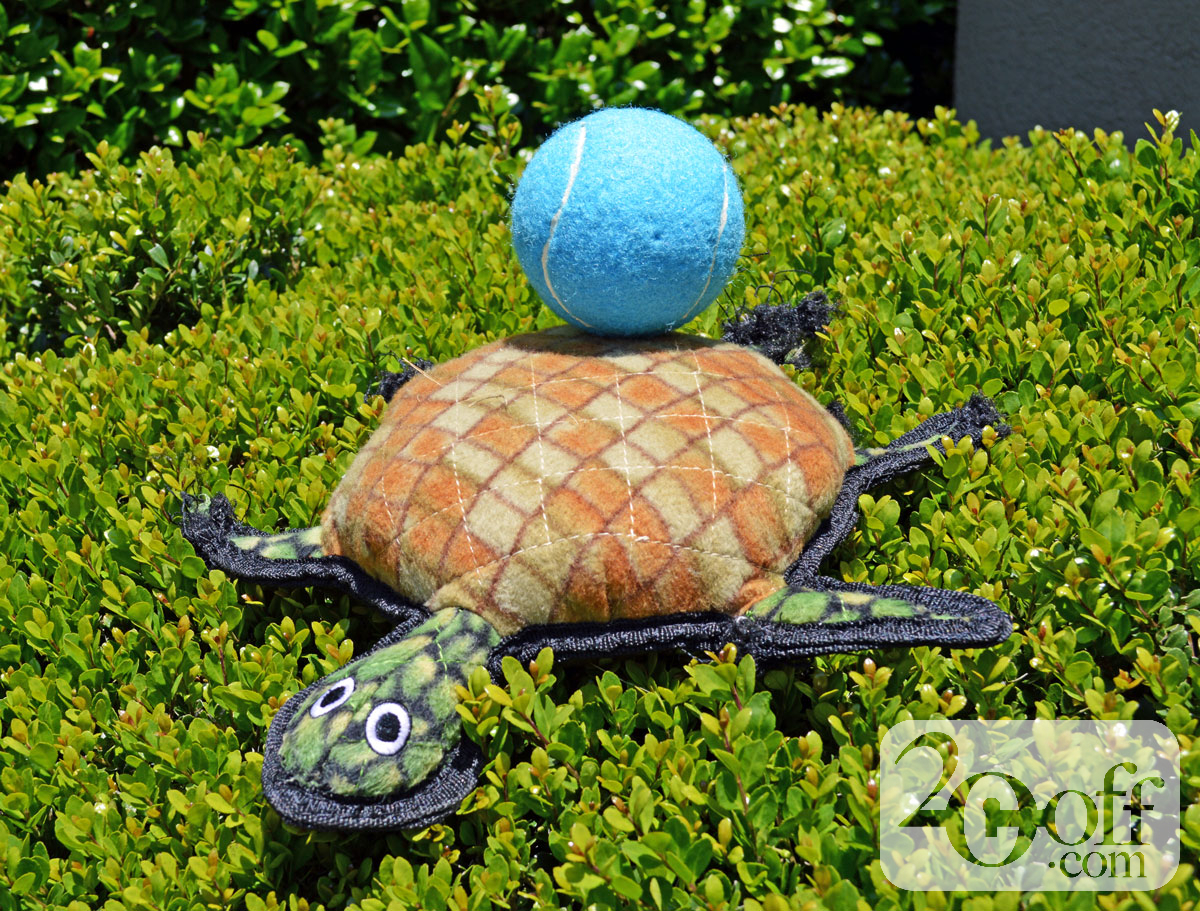 Chewy Tuffy's Turtle Plush Dog Toy