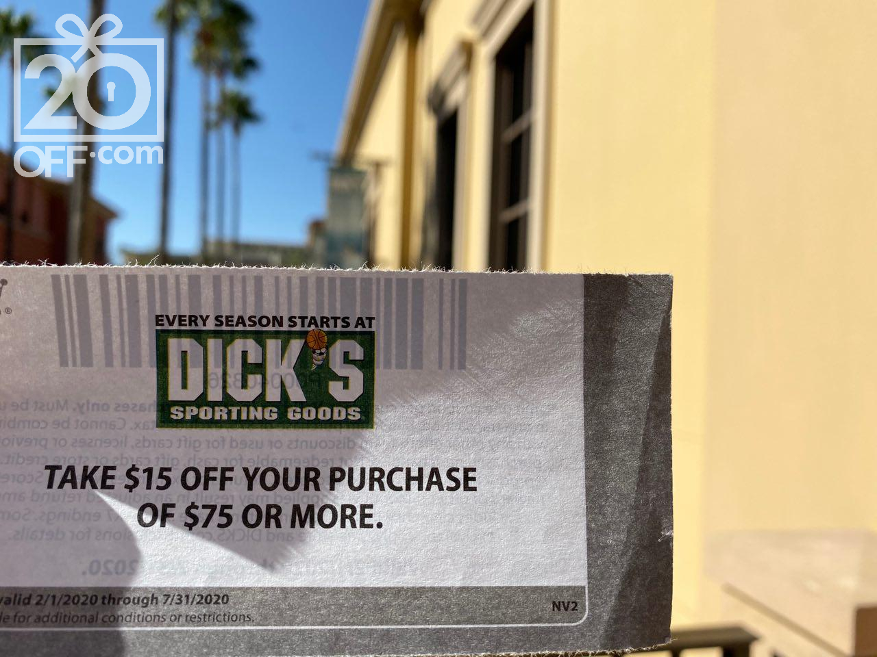 Dick's Coupon $15 off $75