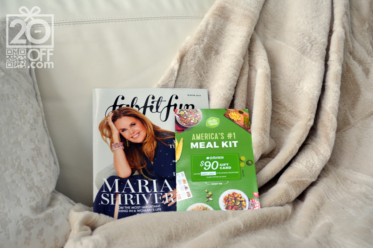 FabFitFun coupon for Hello Fresh meal delivery Kit