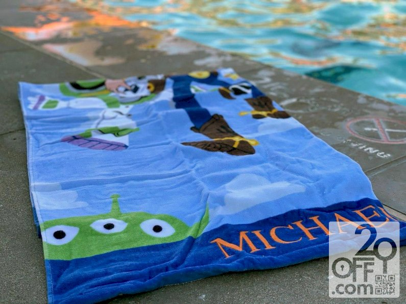 Personalized beach towel from Personalization Mall