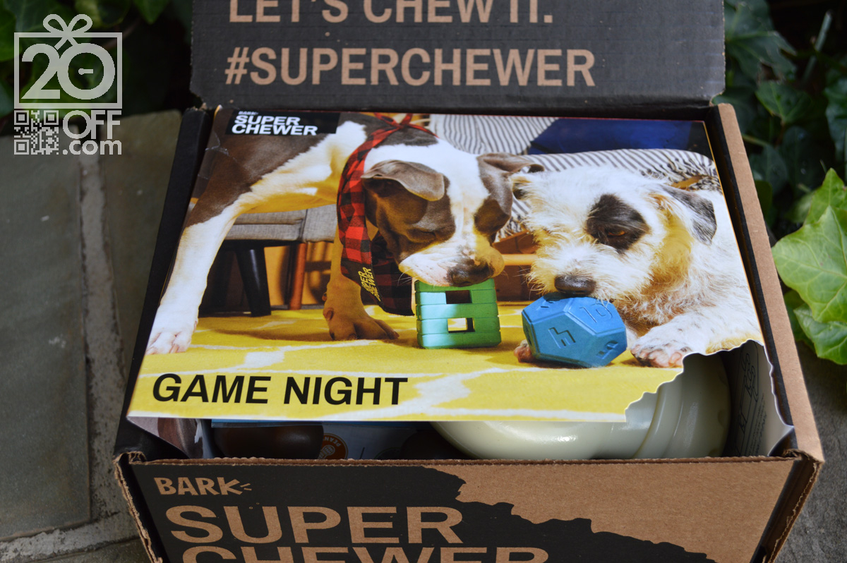 Super Chewer Game Night themed box coupon