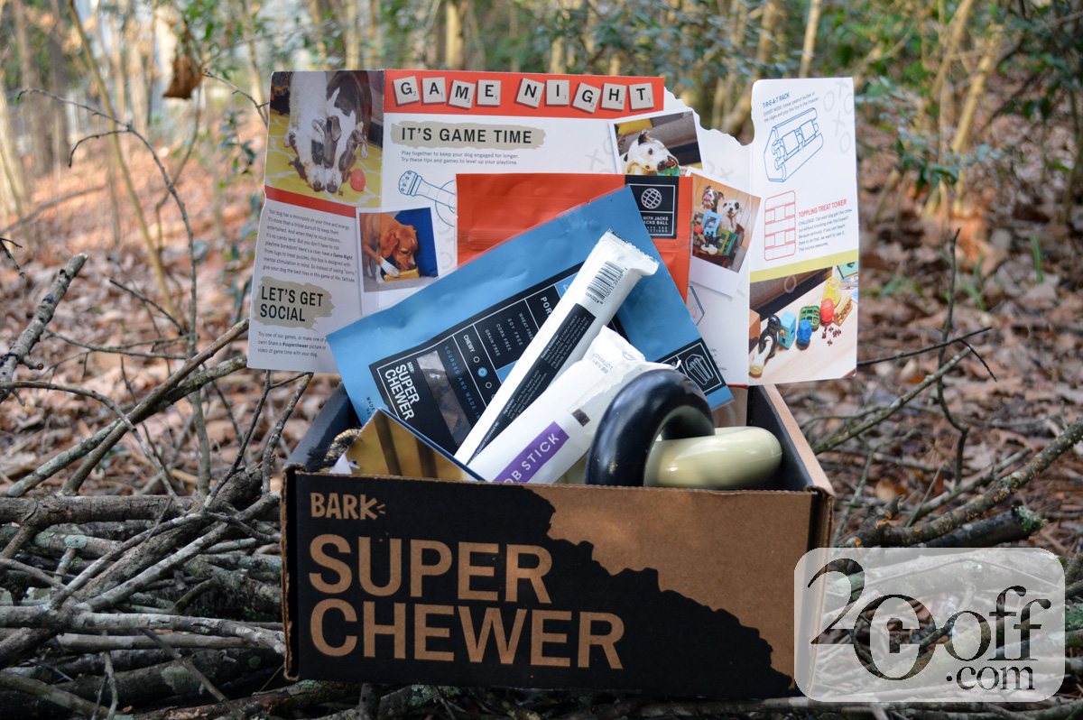 Super Chewer Game Night themed box
