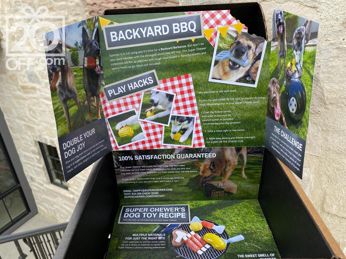 Super Chewer Backyard BBQ Box Promo
