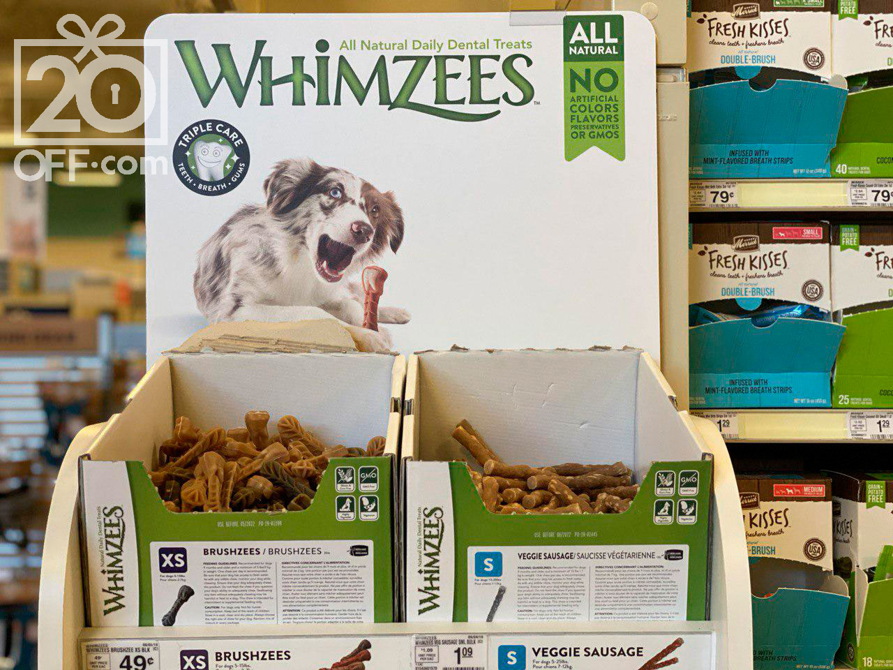 Whimzees Dental Treats for Small Dogs