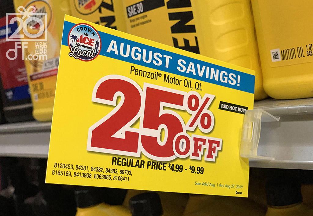 Ace Hardware 25% OFF Discount