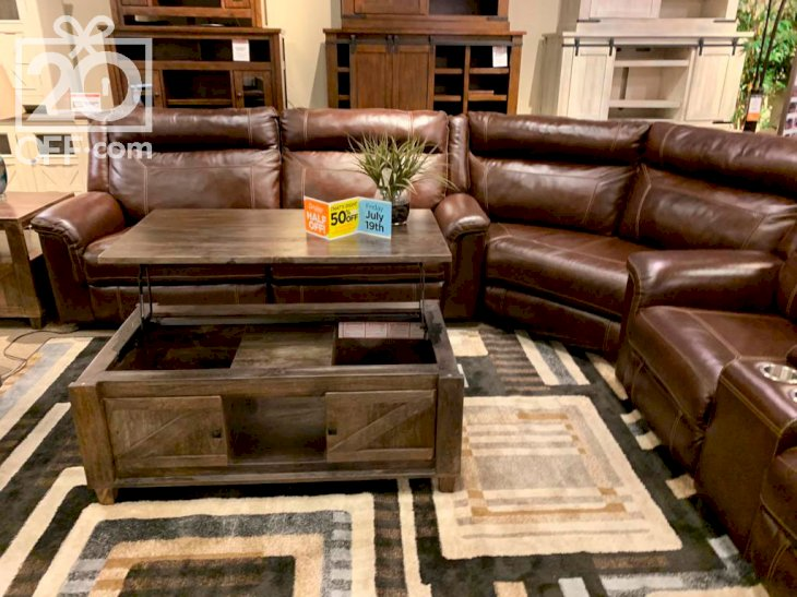 Ashley Leather Sofa and Armchairs