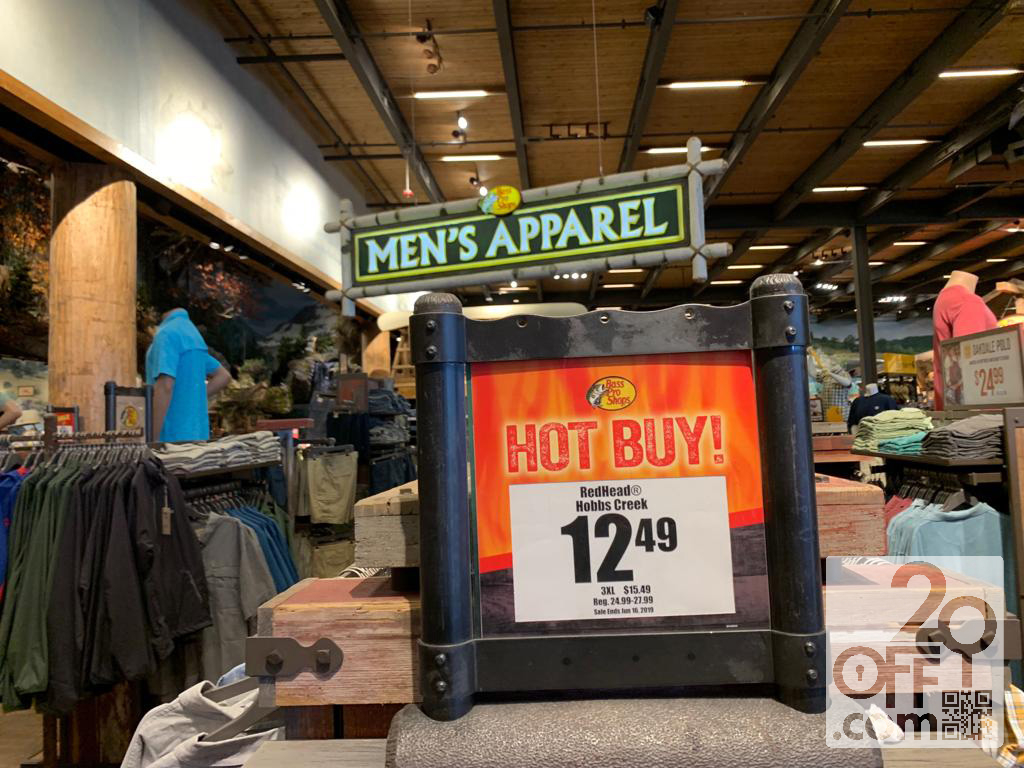 Bass Pro Shops Men's Apparel Hot Buys