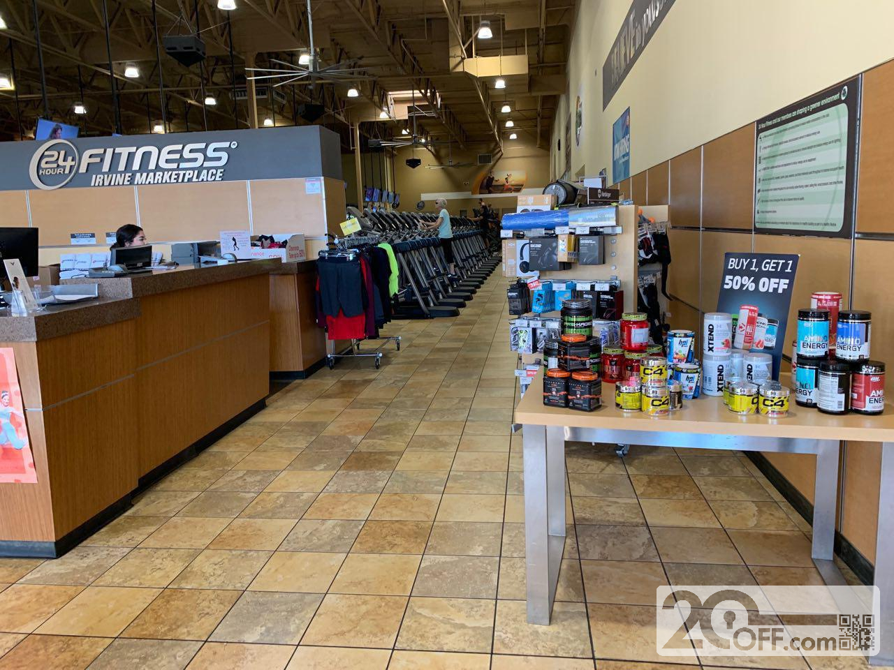 BOGO 50% 24 Hour Fitness