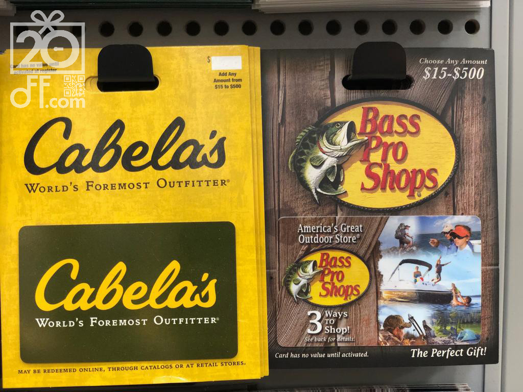 Cabela's and Bass Pro Shops Gift Cards
