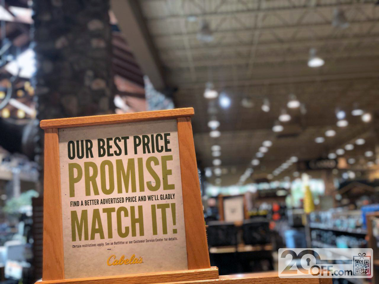 Cabela's Best Price Promoce Match
