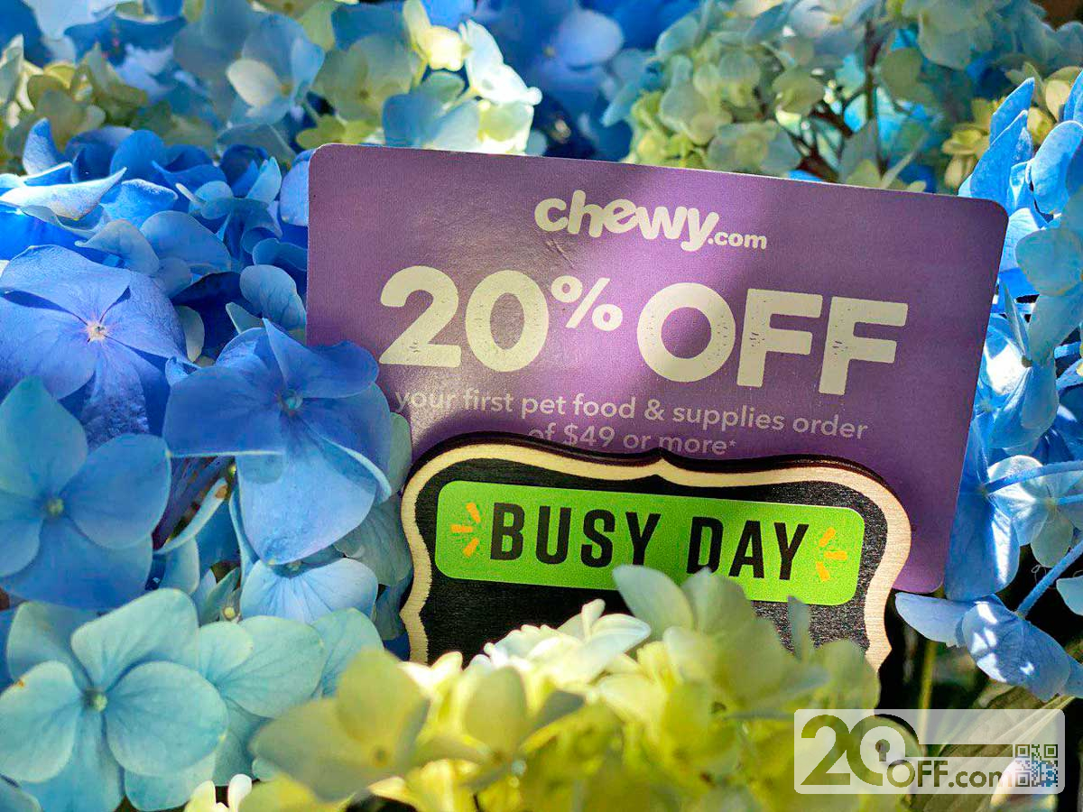 Chewy Pet Food and Supplies 20off Coupon
