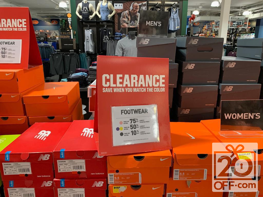 Clearance at Dicks Sporting Goods