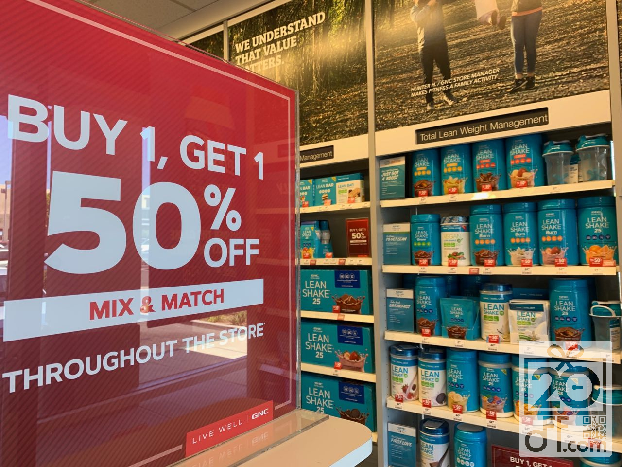 GNC BOGO 50% OFF