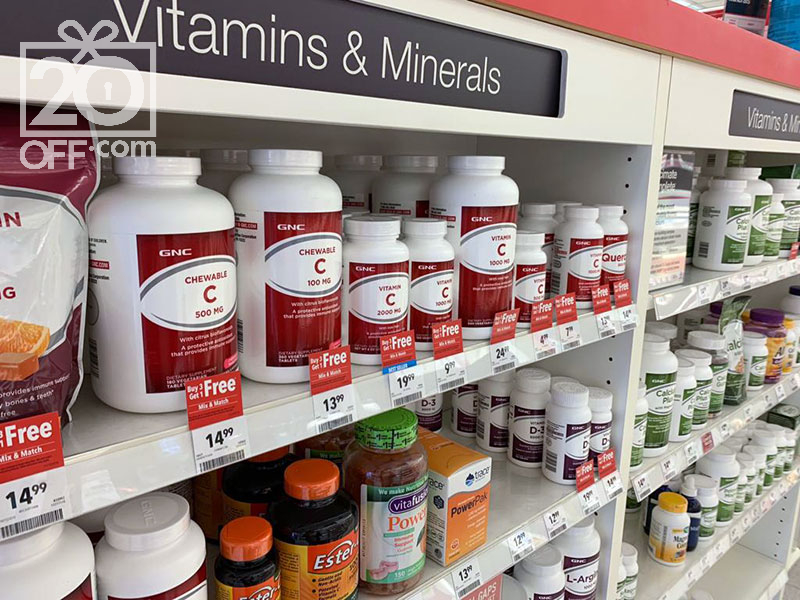 GNC vitamins and supplements shopping