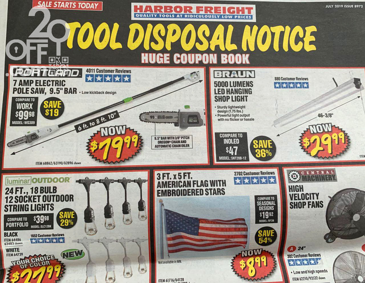 Harbor Freight 20OFF