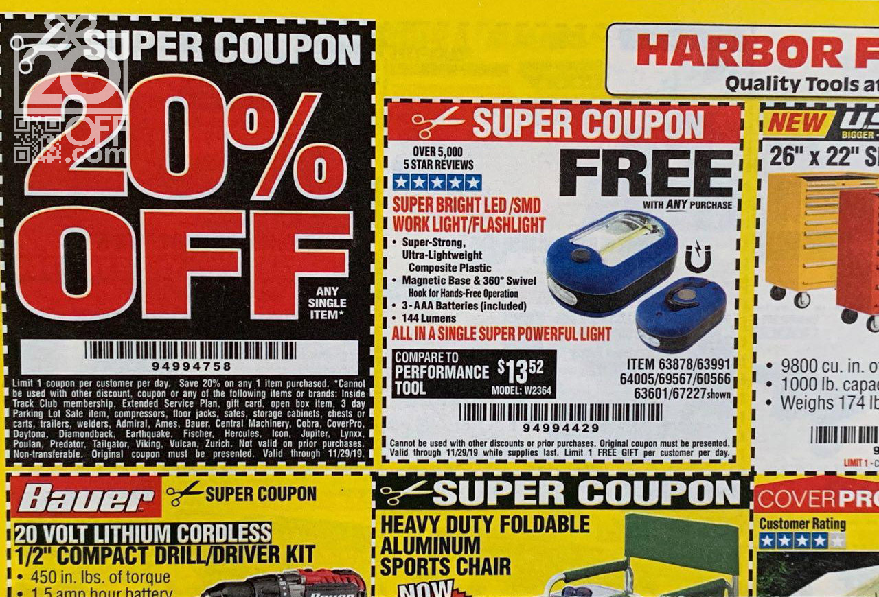 Harbor Freight 20off Coupon