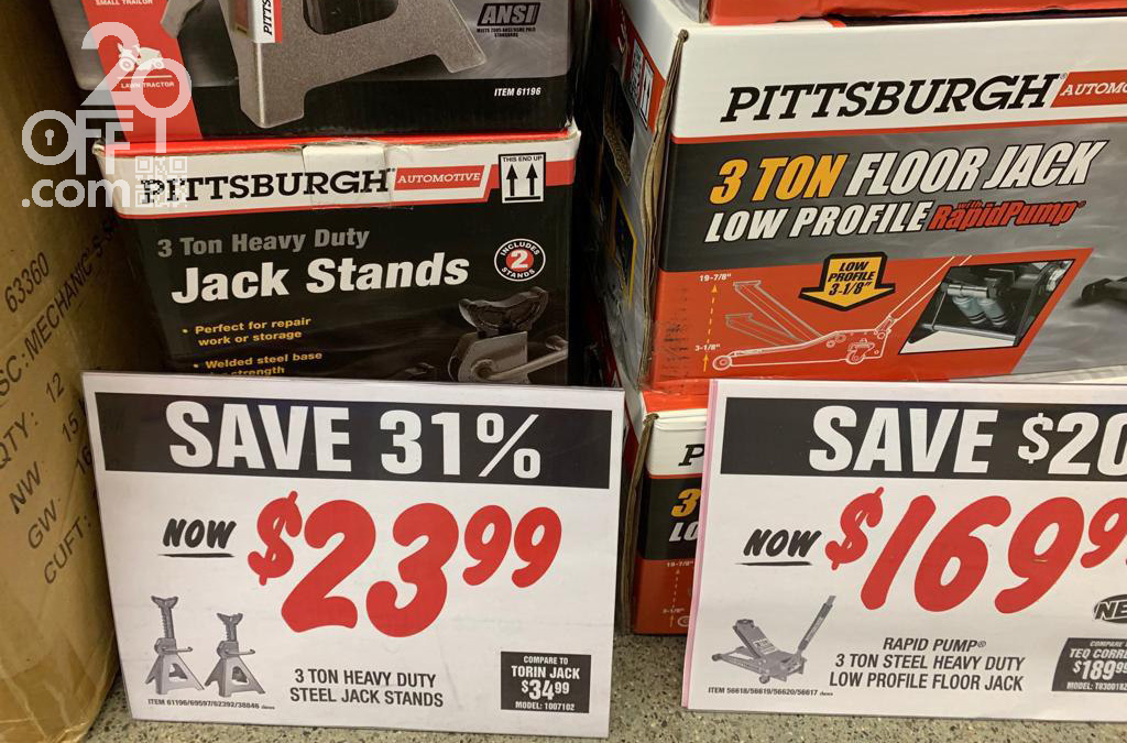 Harbor Freight Jack Stands Discount
