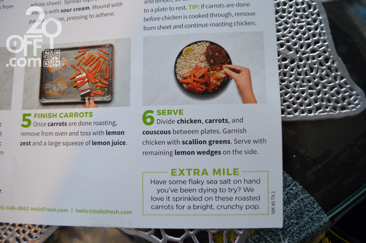 HelloFresh Finish Carrots