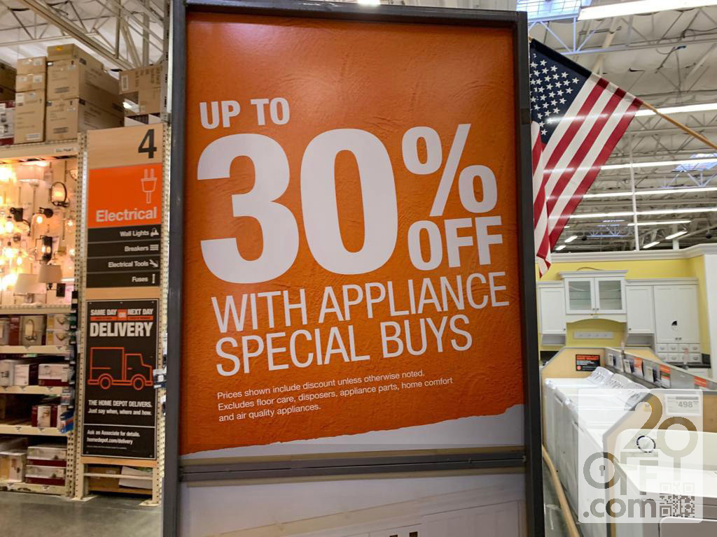 Home Depot 30% OFF Appliance Coupon