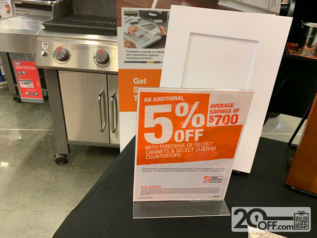 Home Depot 5% OFF Discount