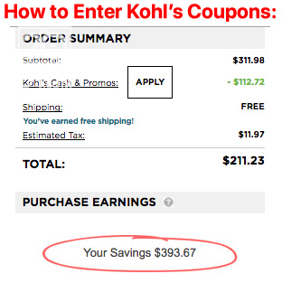 How to Enter Kohl's Coupons