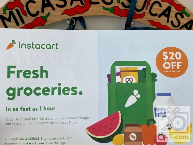Instacart 20 OFF plus Free Delivery