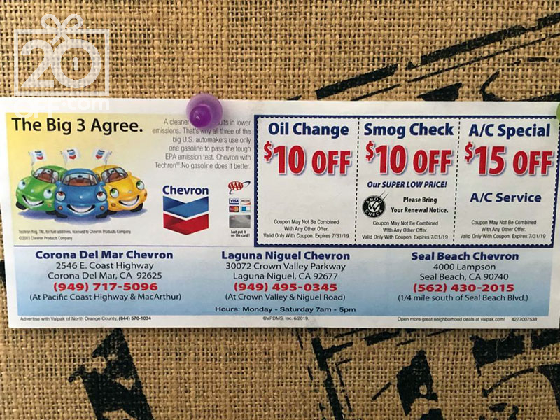 Instant Oil Change Coupon