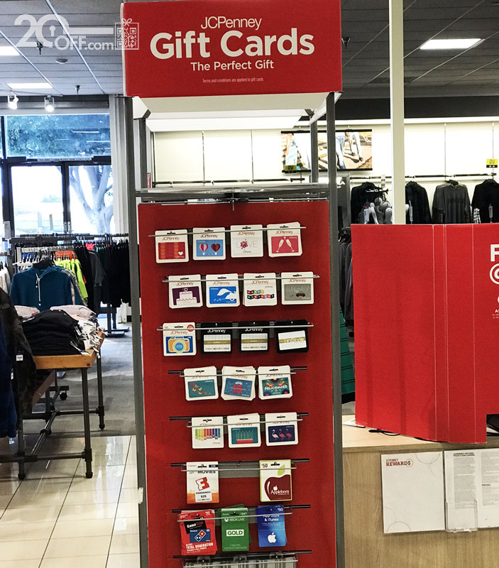 JC Penney discounted gift cards