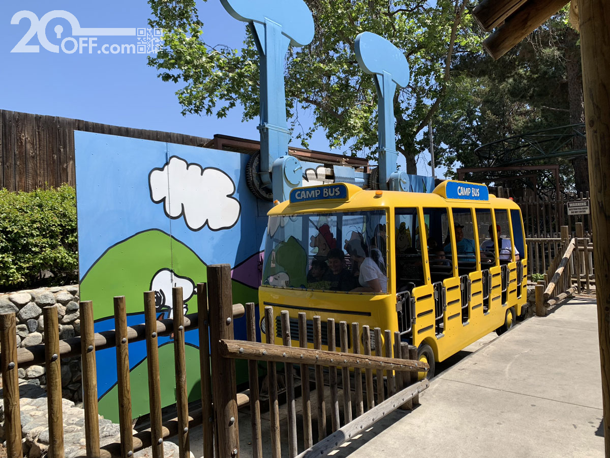Knott's Berry Farm Camp Bus at Camp Snoopy