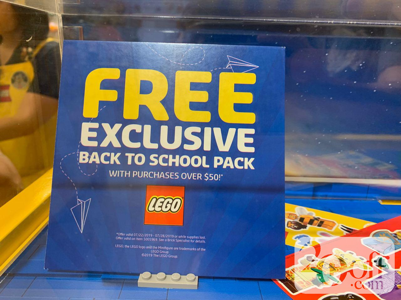 LEGO Free Exclusive back-to-school