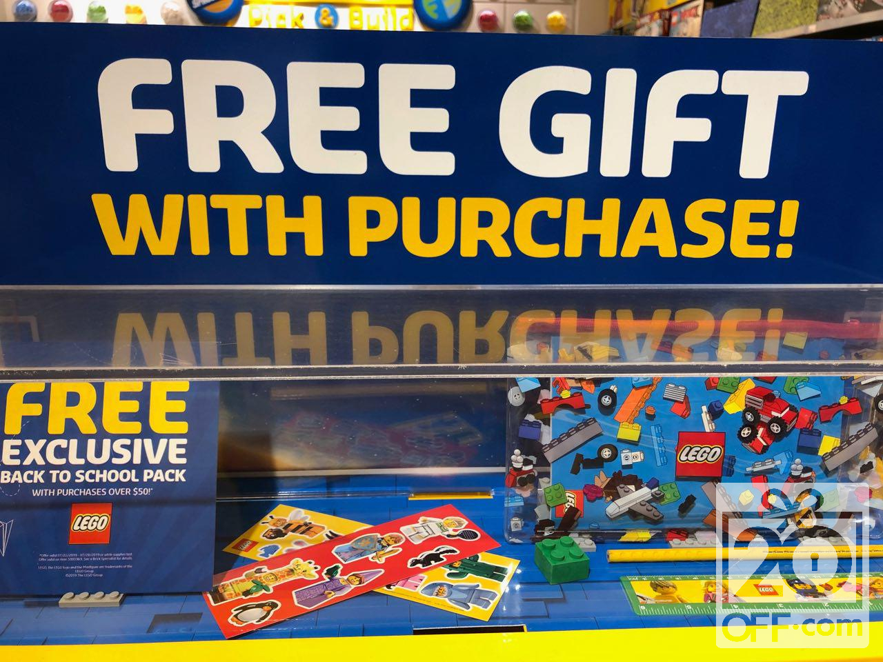 LEGO Free Gift with Purchase Back-to-school