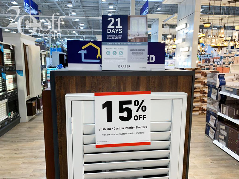 Lowe's 15% OFF Promotion