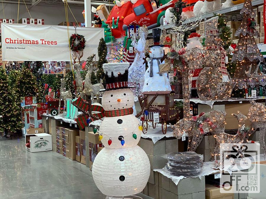 lowes christmas trees and decor