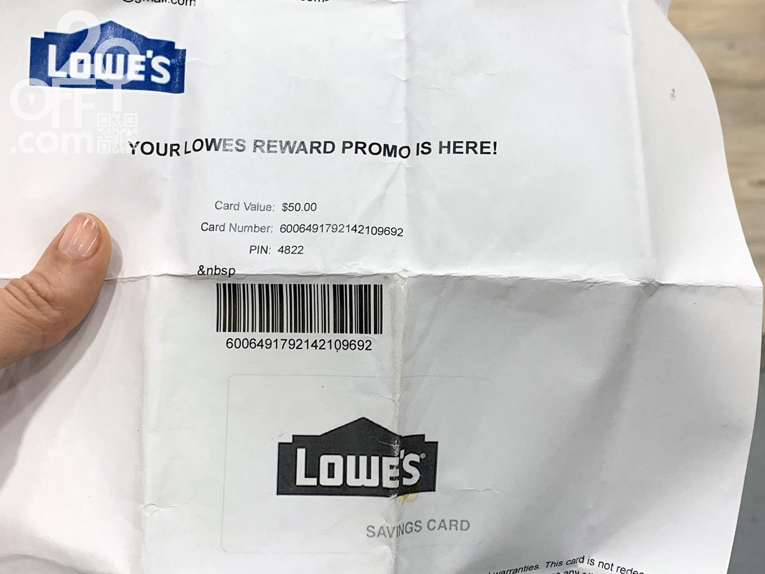 This is an image of Current Lowes Coupon Printable 2020