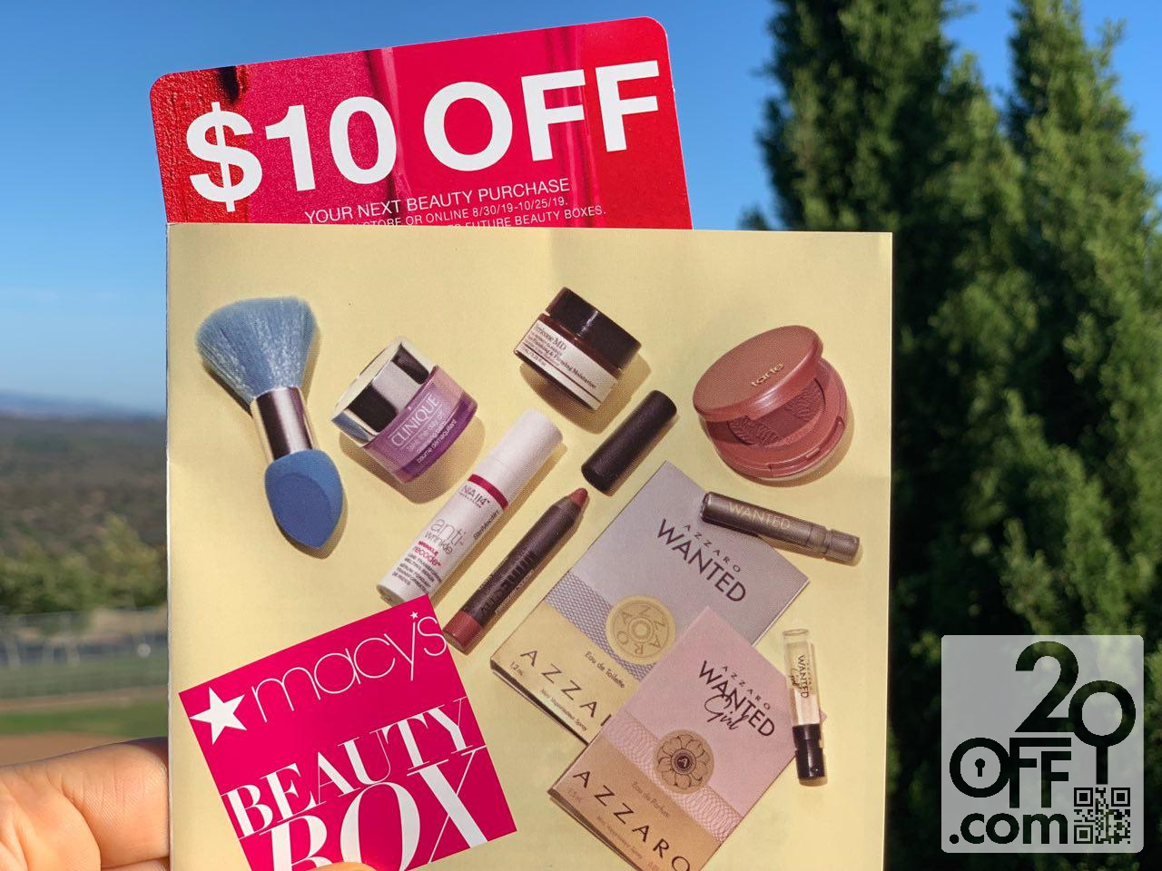 Macys Beauty Box $10 OFF Coupon