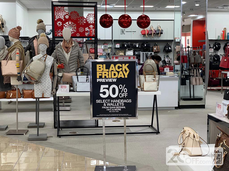 Macy's handbags black friday promotion