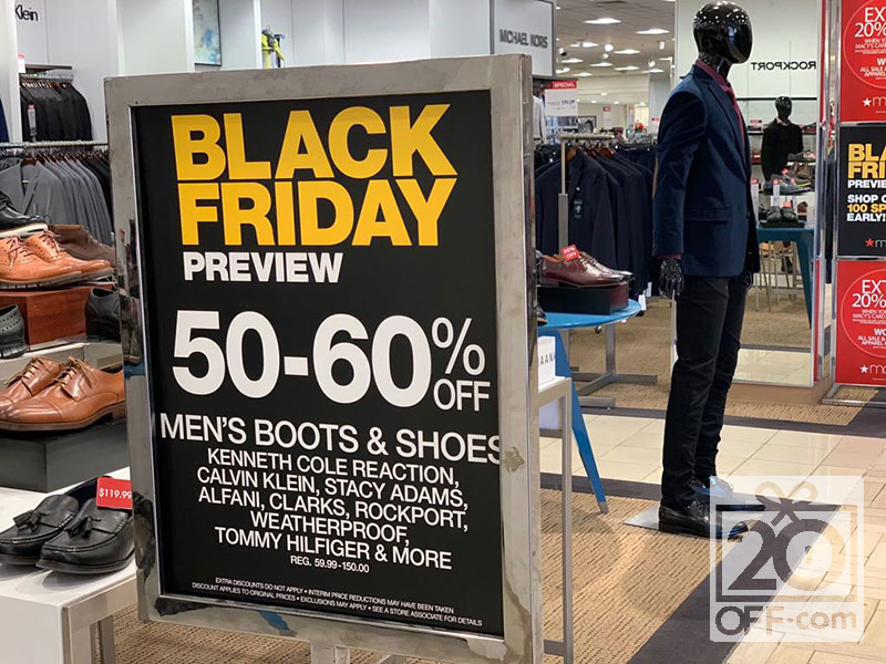 Macys mens boots and shoes black friday promotion