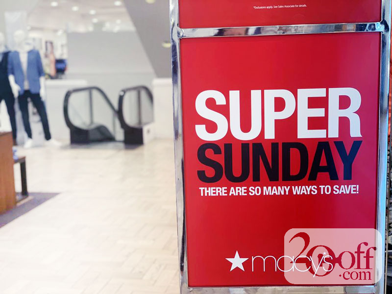 Macys Super Sunday Sale