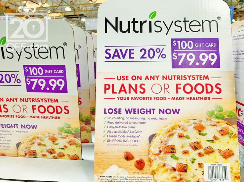 Nutrisystem Gift Card On Sale