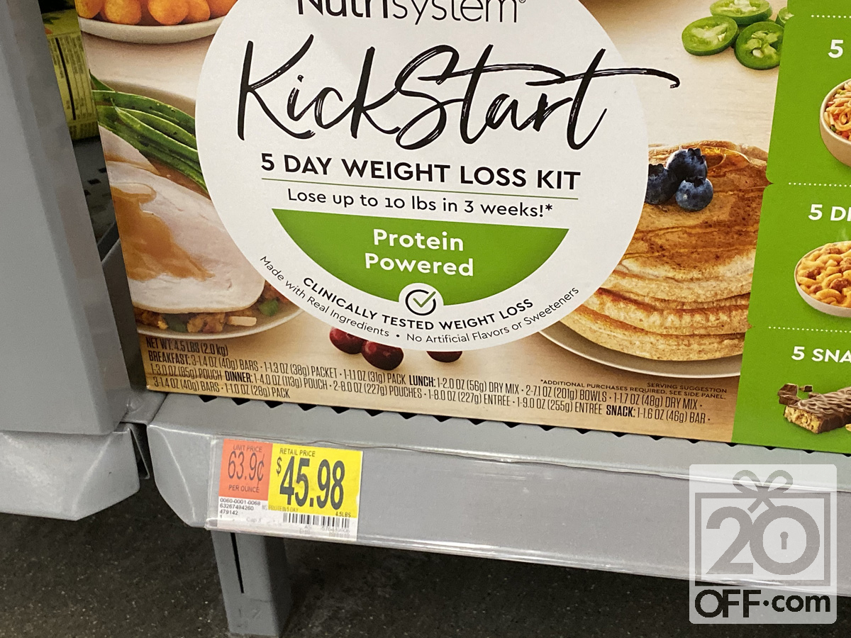 Nutrisystem Kickstart for Men at Walmart