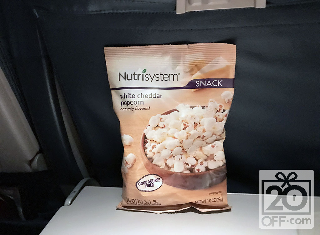 Nutrisystem White Cheddar Popcorn Naturally Flavored