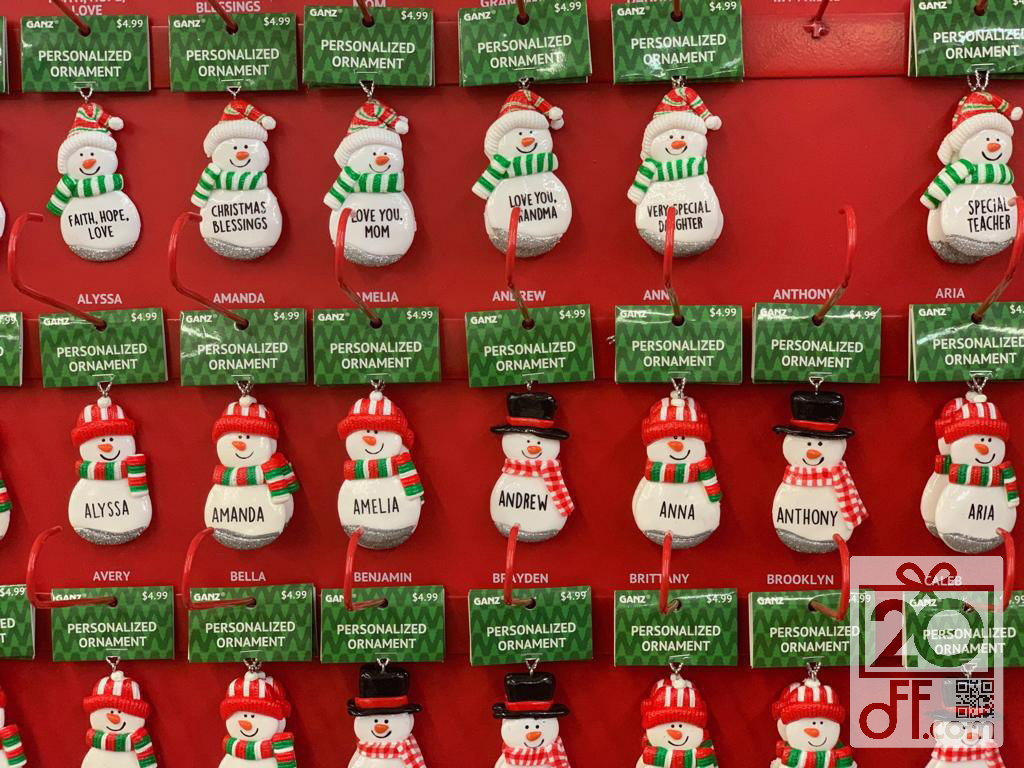 Personalized Ornaments Promotion