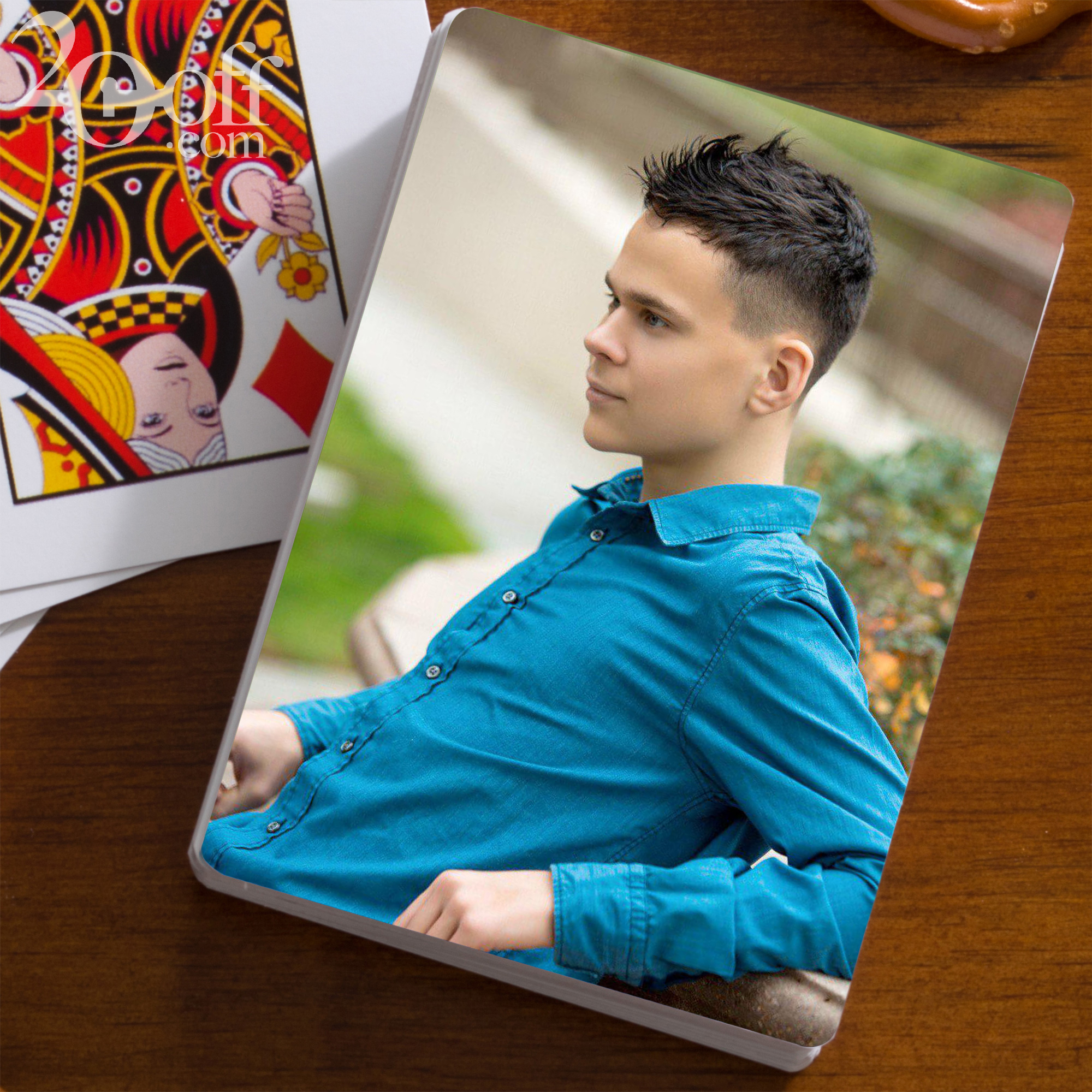 Personalized Photo Plaing Cards Discount
