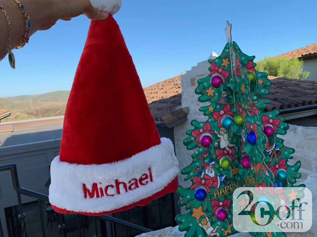 Personalized Santa Christmas Hat