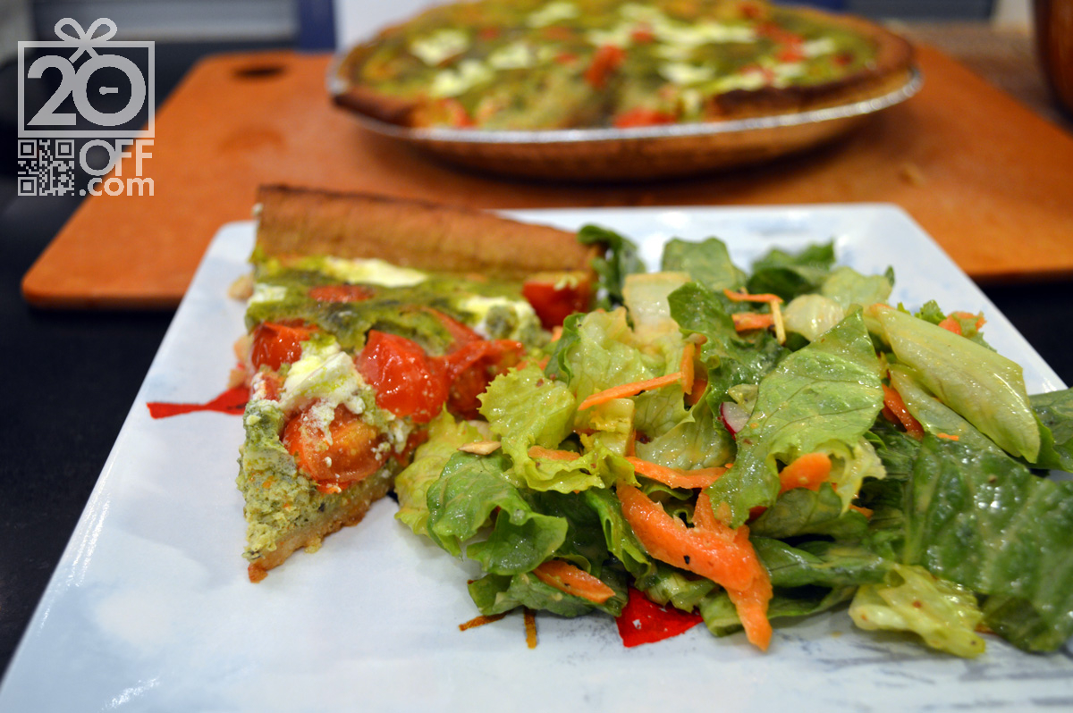 Pesto with Tomato and Salad