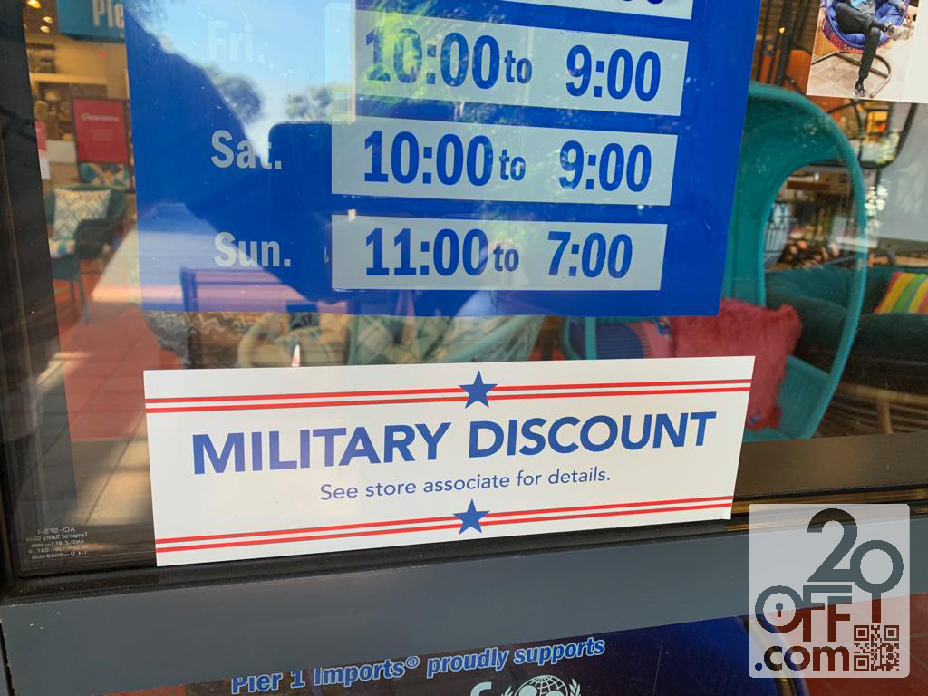 Pier 1 Military Discount