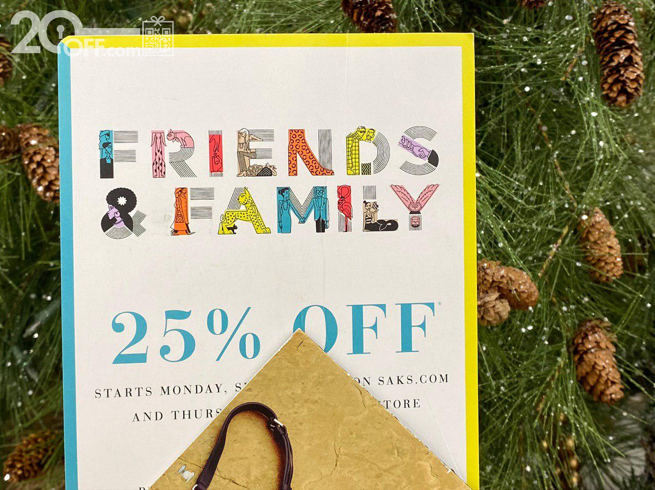 Saks 25% OFF Friends and Family Coupon
