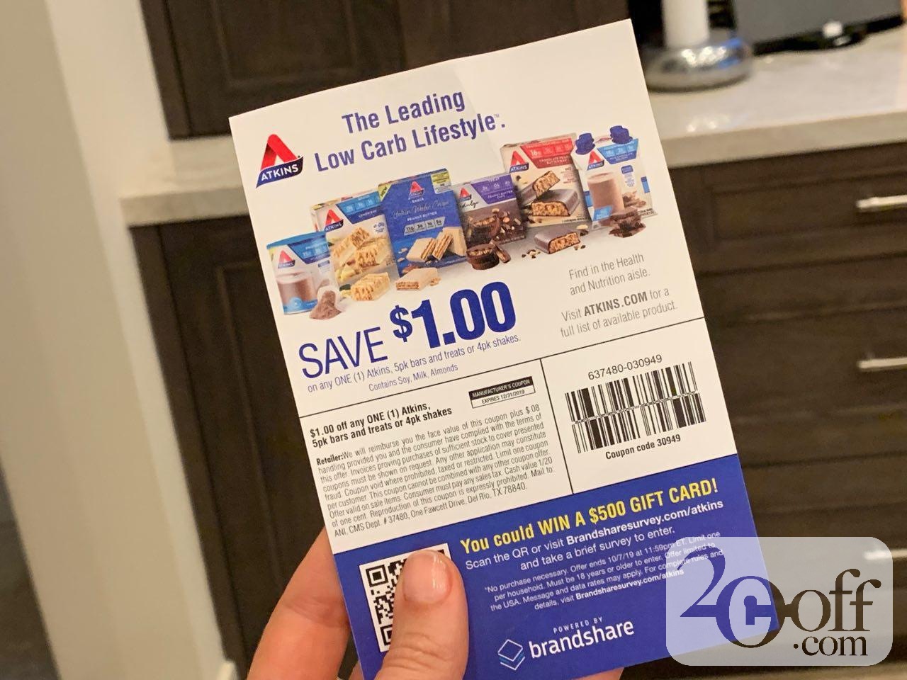 Save $1 off with Atkins Printable Coupon